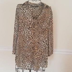Women's Zara animal print blouse  size M